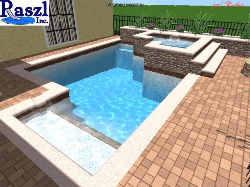 3D Pool Design | Raszl Inc. - Palm Coast Pool and Spa Builders