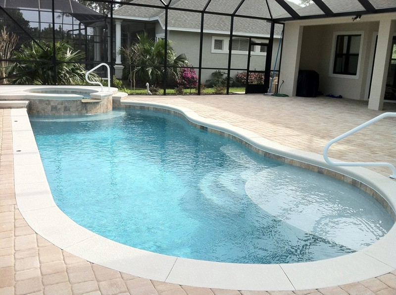 Pool and spa gallery raszl inc palm coast pool and for Pool and spa builders