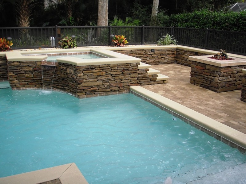 Pool and spa gallery raszl inc palm coast pool and for Pool design inc