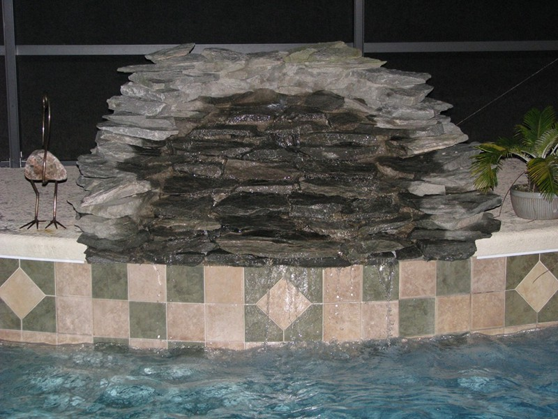 Waterfalls Raszl Inc Palm Coast Pool And Spa Builders