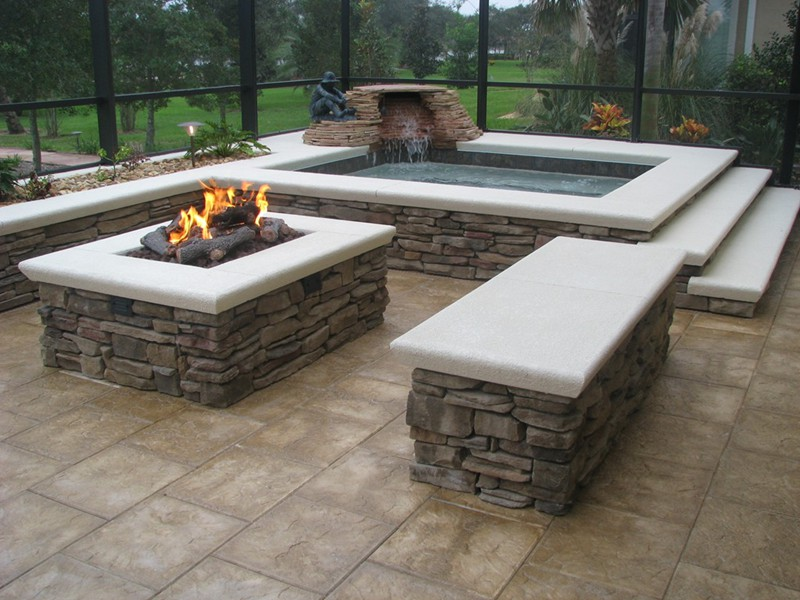 Fire Bowls And Pits Raszl Inc Palm Coast Pool