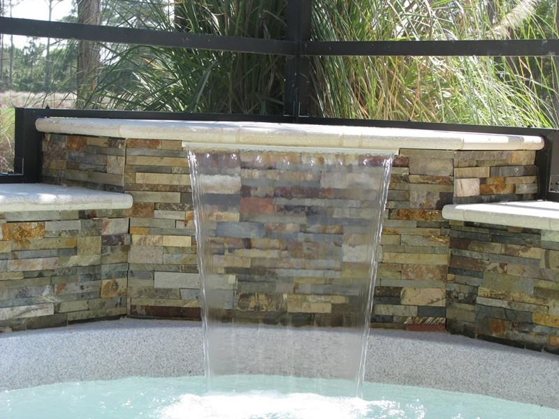 stacked stone waterfall travertine - photo #9